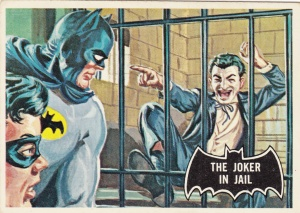 1966 Topps Batman Black Bat The Joker In Jail