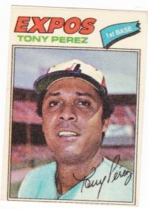 1977 Topps Cloth Stickers Tony Perez_0001