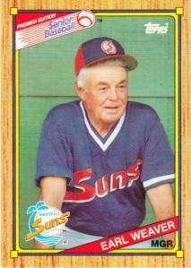 1989-90 Topps SPBA Earl Weaver