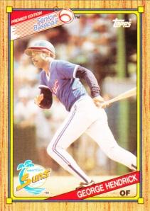 1989-90 Topps SPBA George Hendrick