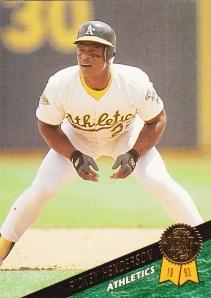 1993 Leaf Rickey Henderson