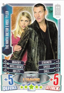 2012 Topps Doctor Who Alien Attax 50 Years 9th Doctor And Rose