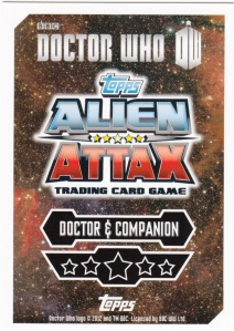 2012 Topps Doctor Who Alien Attax 50 Years card back