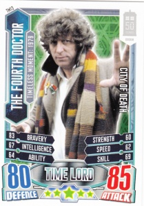 2012 Topps Doctor Who Alien Attax 50 Years Fourth Doctor