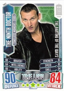 2012 Topps Doctor Who Alien Attax 50 Years Ninth Doctor