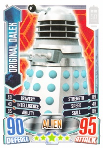 2012 Topps Doctor Who Alien Attax 50 Years Original Dalek