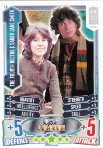2012 Topps Doctor Who Alien Attax 50 Years Sarah Jane & 4th Doctor
