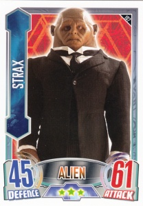 2012 Topps Doctor Who Alien Attax 50 Years Strax
