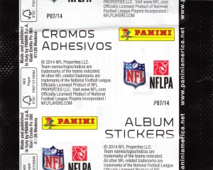 2014 Panini NFL Stickers wrapper_0002