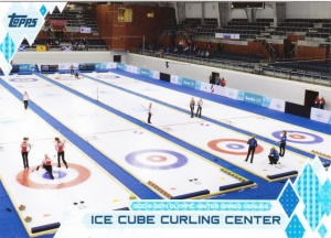 2014 Topps Olympics Ice Cube Curling Center