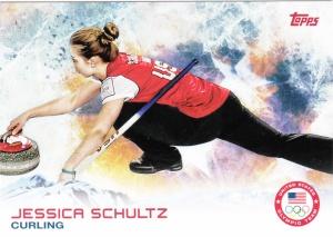2014 Topps Olympics Jessica Schultz