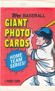 1981 Topps 5x7 Mets-Yankees Wrapper Front