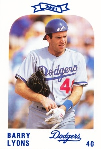 1991 Dodgers Police Set Barry Lyons
