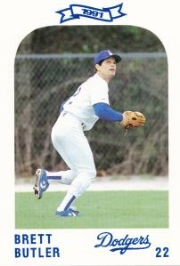 1991 Dodgers Police Set Brett Butler