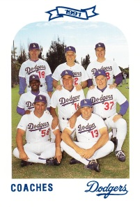 1991 Dodgers Police Set Coaches