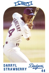 1991 Dodgers Police Set Darryl Strawberry