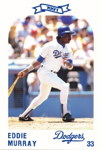 1991 Dodgers Police Set Eddie Murray