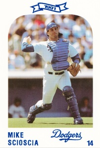 1991 Dodgers Police Set Mike Scioscia