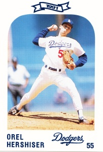1991 Dodgers Police Set Orel Hershiser