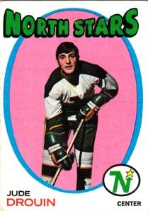 1971-72 Topps Hockey Jude Drouin