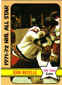 1972-73 Topps Hockey Jean Ratelle AS