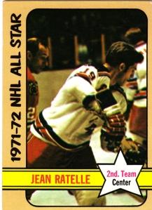 1972-73 Topps Hockey Jean Ratelle AS