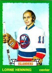 1973-74 OPC Hockey Lorne Henning