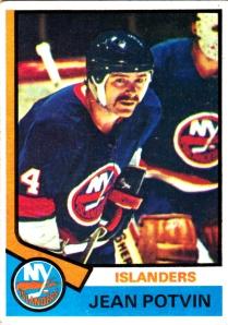 1974-75 Topps Hockey Jean Potvin