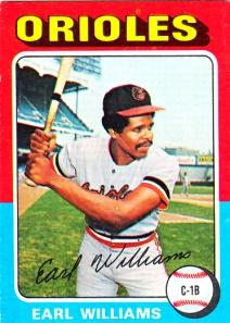 1975 Topps Earl Williams
