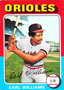 1975 Topps Earl Williams
