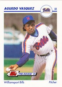1991 Line Drive Pre-Rookie Aguedo Vasquez