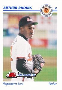 1991 Line Drive Pre-Rookie Arthur Rhodes