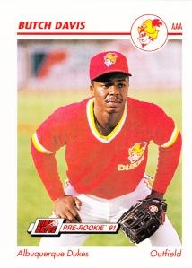 1991 Line Drive Pre-Rookie Butch Davis