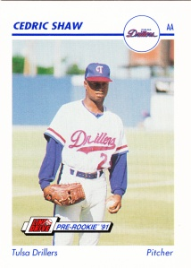 1991 Line Drive Pre-Rookie Cedric Shaw