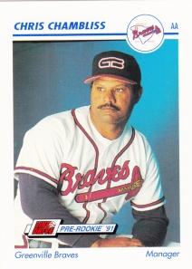 1991 Line Drive Pre-Rookie Chris Chambliss