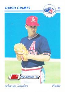 1991 Line Drive Pre-Rookie David Grimes