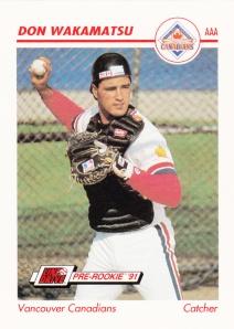 1991 Line Drive Pre-Rookie Don Wakamatsu