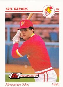 1991 Line Drive Pre-Rookie Eric Karros