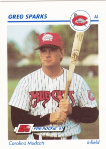 1991 Line Drive Pre-Rookie Greg Sparks