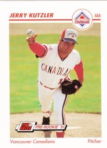 1991 Line Drive Pre-Rookie Jerry Kutzler