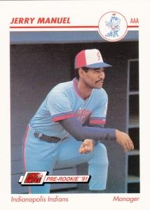1991 Line Drive Pre-Rookie Jerry Manuel