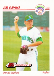1991 Line Drive Pre-Rookie Jim Davins