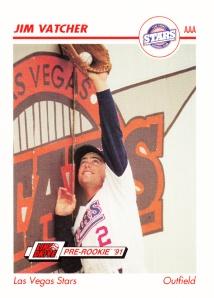 1991 Line Drive Pre-Rookie Jim Vatcher