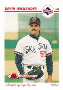 1991 Line Drive Pre-Rookie Kevin Wickander