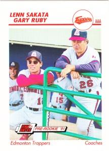 1991 Line Drive Pre-Rookie Lenn Sakata