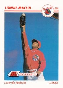 1991 Line Drive Pre-Rookie Lonnie Maclin