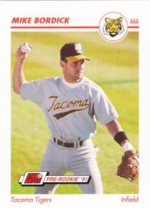 1991 Line Drive Pre-Rookie Mike Bordick