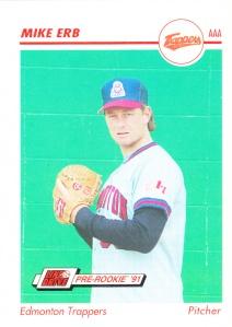 1991 Line Drive Pre-Rookie Mike Erb