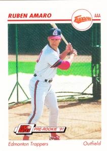1991 Line Drive Pre-Rookie Ruben Amaro Jr
