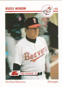 1991 Line Drive Pre-Rookie Russ Nixon